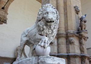Florence: Lion in Piazza della Signoria - copy